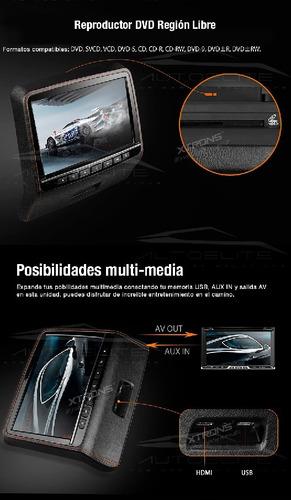 cabecera pantalla tipo tablet pantalla 9 pulgadas hdmi dvd