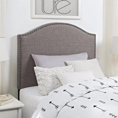 Cabecera para cama individual color gris de lujo tela - Cabecera de cama ...