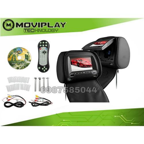 cabecera  para carro apoya cabeza pantalla 7 pulgadas dvd hd