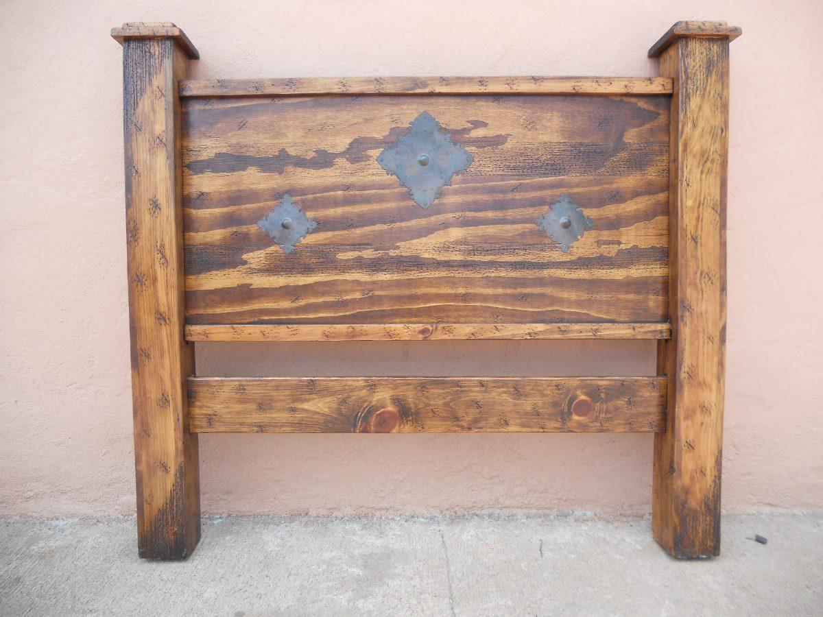 Cabecera Rústica.madera De Pino Apolillada.excelente Calidad ...