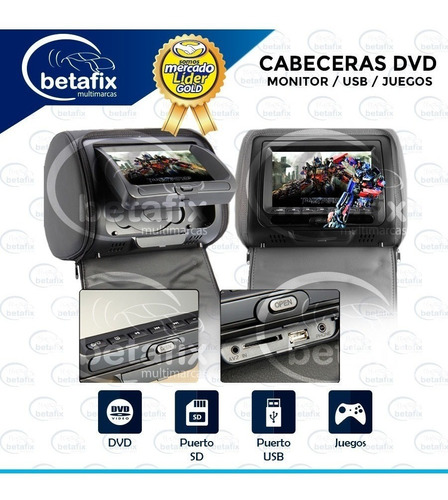 cabeceras pantallas monitores 7pul dvd 2aud ir betafix ec