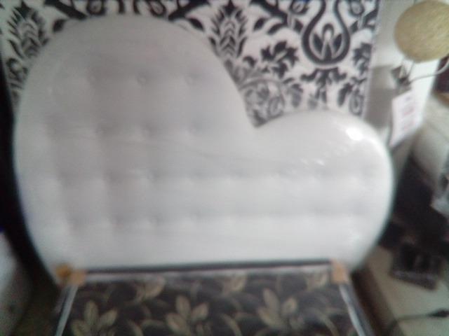 Cabecero Forma Corazon Buena Calidad Acolchados 140 X 190