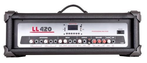 cabeçote amplificador multiuso l l 420 usb - 100 watts nca