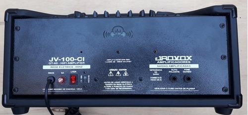 cabeçote guitarra 60wrms canal clean, canal drive e reverb