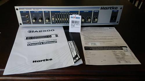 cabeçote hartke system ha2500 amplificador pra baixo