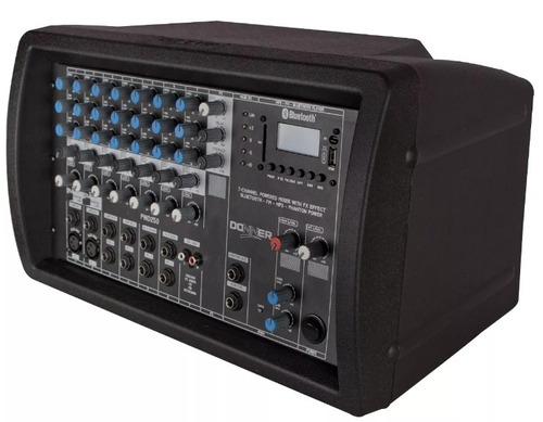 cabeçote multiuso mesa amplificada pwd250 250 w bluetooth fm