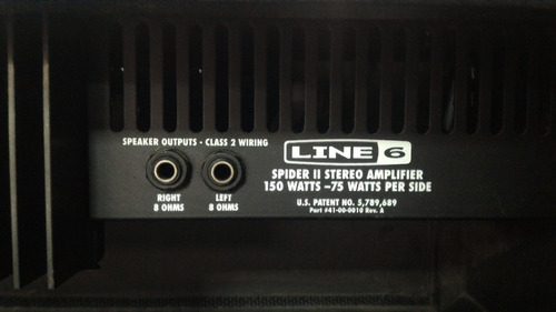 cabeçote para guitarra line 6 spider ii 150watts multiefeito