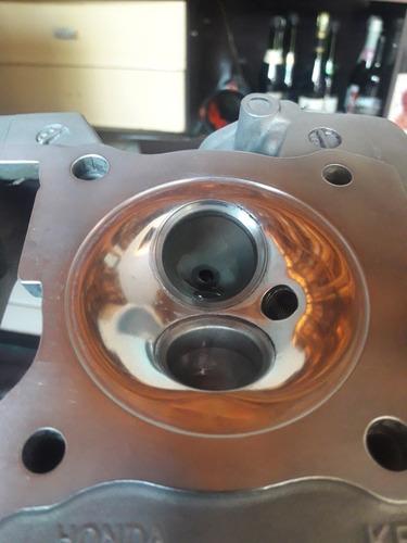 cabecote titan 150 carburada com squish