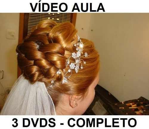 cabeleireiro, penteados profissionais 3 dvds! completo r4z