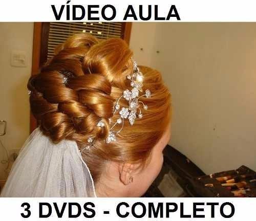 cabelereiro, penteados profissionais 3 dvds!! completo