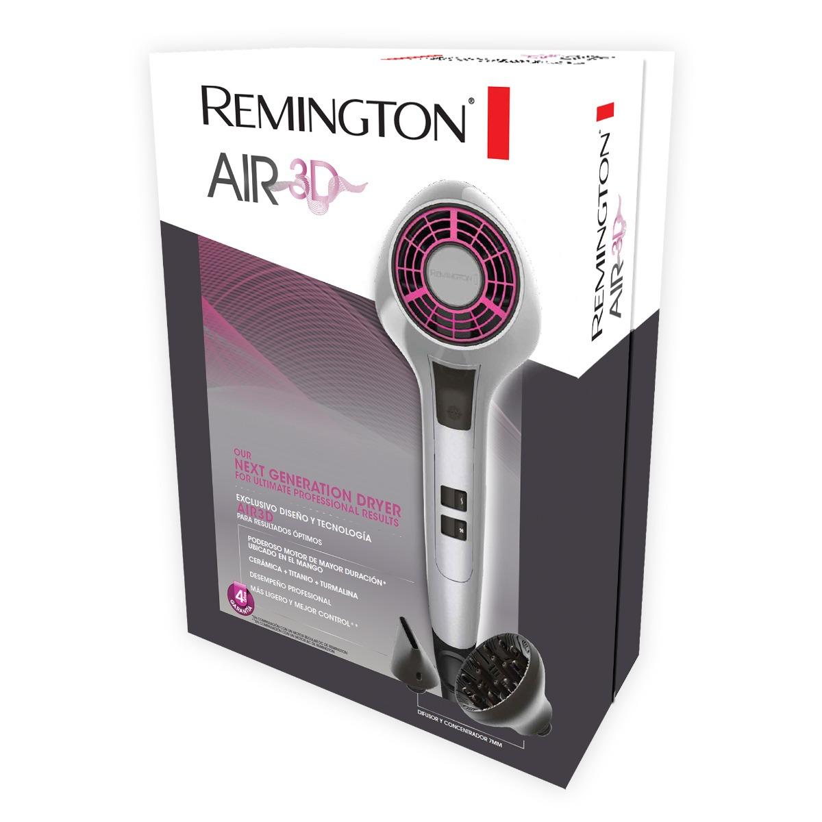 Cargando zoom... 4 secadora cabello remington air 3d profesional secado  rapido 042b756f3e00