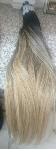 cabelo 100% humano 150 gramas 65 cm