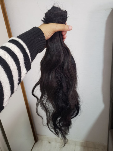 cabelo 100% humano 200 gramas 65 cm