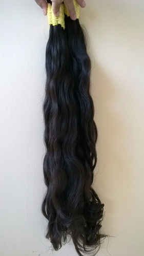 cabelo 100% humano p/ mega hair/apliques - 50 cm 150 g