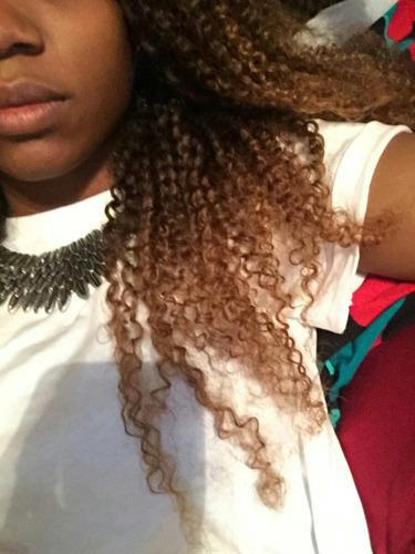 cabelo 100%hamano cacheado de 55cm 300grama