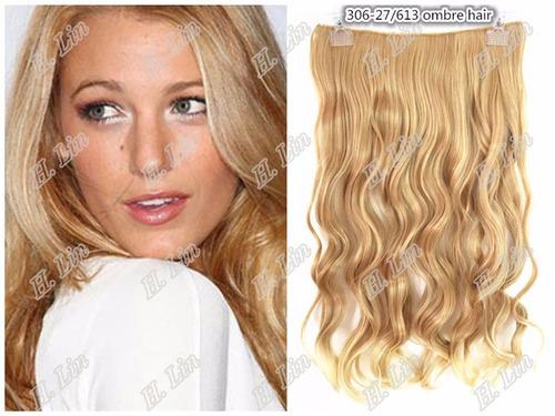 cabelo 306 tic tac 60cm cor 27/613 fibra japonesa loiro clar