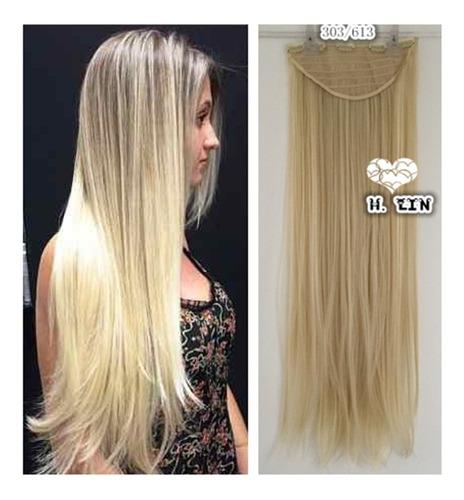 cabelo 613a tic tac loiro perola clarissimo platinado 80cm