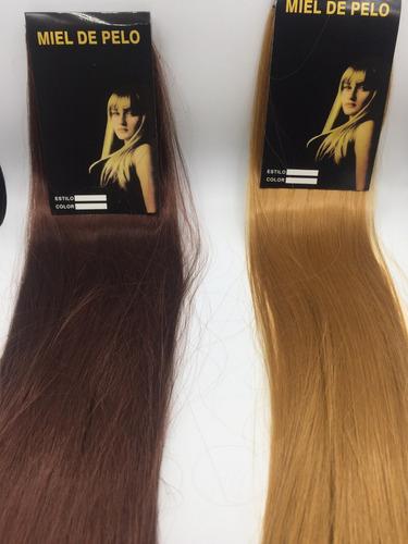 cabelo alongamento aplique tic tac fibra 60cm castanho