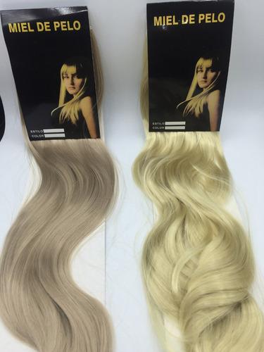 cabelo alongamento aplique tic tac fibra 60cm loira