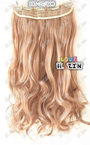 cabelo alongamento aplique tic tac fibra japonesa 60cm 27/27