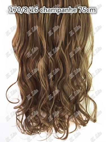 cabelo alongamento aplique tic tac fibra japonesa 60cm 8/16#