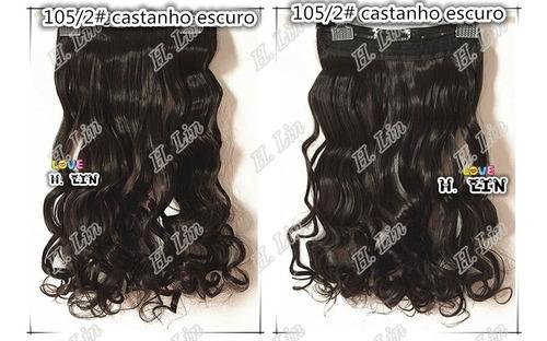 cabelo alongamento aplique tic tac fibra organica 60cm cor 2