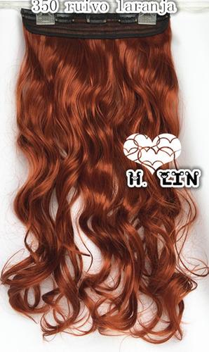 cabelo alongamento aplique tic tac fibra organico 350 ruivo