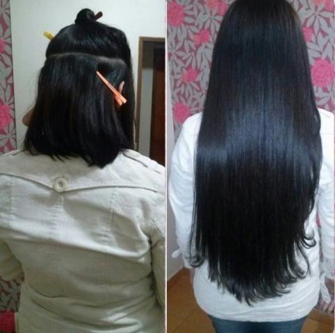 cabelo alongamento aplique tictac 60cm castanho escuro!
