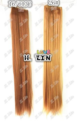 cabelo alongamento aplique tictac fibra japonesa cor 26 liso