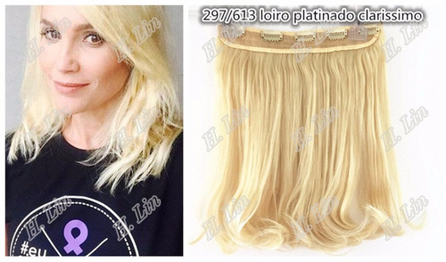 cabelo alongamento loiro tic tac fibra japonesa 45cm cor 613