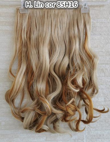 cabelo alongamento tic tac 60cm fibra organico cor 85h16 loi