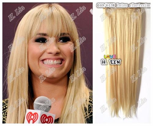 cabelo alongamento tic tac 75cm fibra japonesa cor 613 loiro