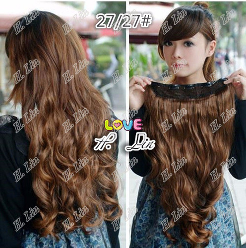 cabelo alongamento tic tac 75cm frete gratis cor 27/27 ruivo