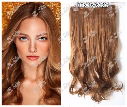 cabelo alongamento tic tac fibra japonesa 60cm 16/613c loiro