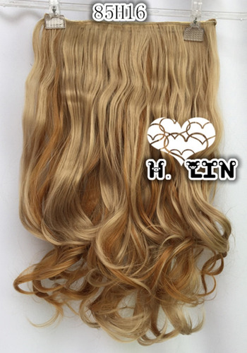 cabelo aplique tic tac 60cm luzes mechas 85h16 loiro claro