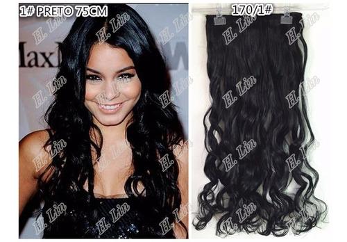 cabelo aplique tic tac 70cm kit 3 pecas fibra japonesa 130 g