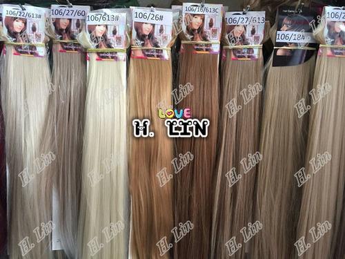 cabelo aplique tic tac fibra japonesa atacado 60cm 10 pecas
