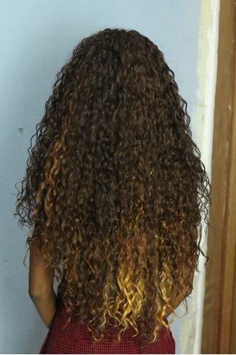 cabelo cacheado 76cm -um pacote é o suficiente -super marvel