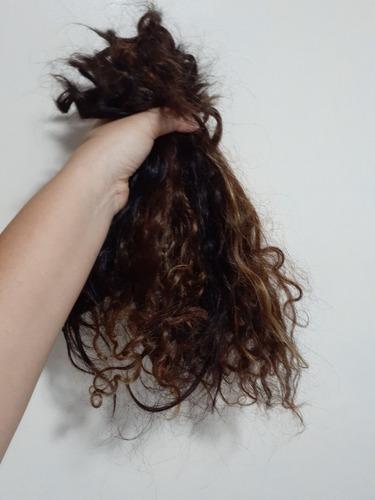 cabelo cacheado humano 35 cm 180g desapego