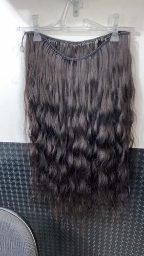 cabelo de 65 cm telado manualmente