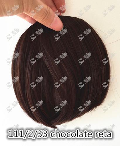 cabelo franja fibra japonesa cor 2/33 chocolate frete gratis