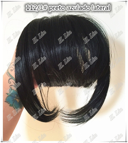 cabelo franja fibra organico tic tac cor 1 preta cor 2/30 ca