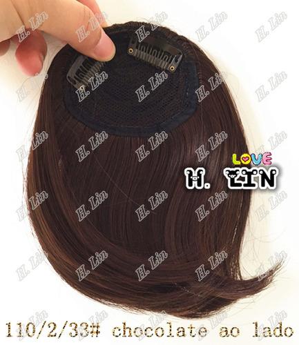 cabelo franja tic tac fibra japonesa 2/33# castanho chocolat