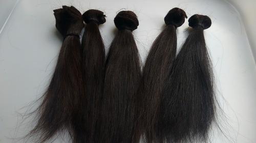 cabelo hum. castanho p/ teste de tinturas, químicas-100g