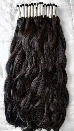 cabelo humano 100% natural 75 a 80cm 200gr (cabelo virgem)
