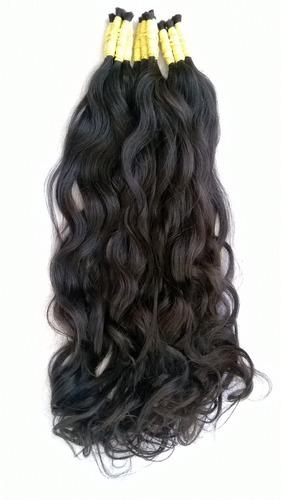cabelo humano 100% natural de 60cm 50 gramas liso ondulado.