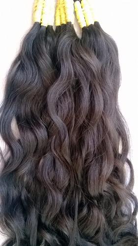 cabelo humano 100% natural de 70cm 100 gramas liso ondulado.