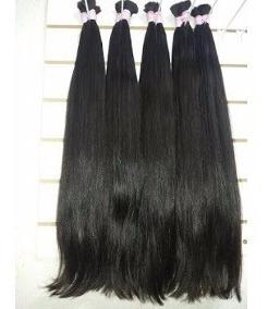 cabelo humano 100gr liso castanho brasileiro