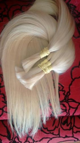 cabelo humano 45cm loiro brasileiro lindo envio 24h