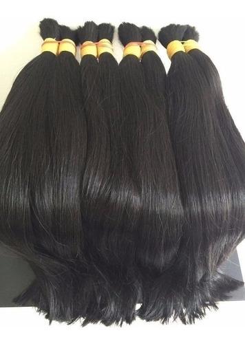 cabelo humano aplique mega hair ondulado 50/55cm -100gr